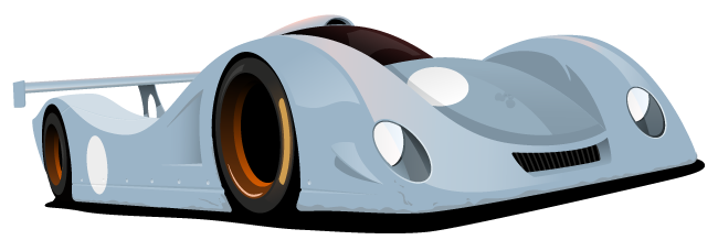 Prototype Custom Racecar Illustration