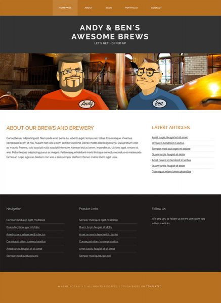 Our Static Site Design, that we built into a WordPress theme during our presentation.